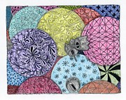 Zia Drawings - Ornaments Galore in Color by Paula Dickerhoff