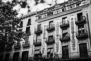 Ornate Art - Ornate Balconies And Design Of Pension Building 25 Las Ramblas On La Rambla Dels Caputxins Barcelona by Joe Fox