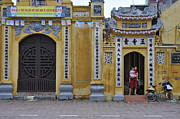 Ornate Buildings In The City Centre Of Hanoi Print by Sami Sarkis
