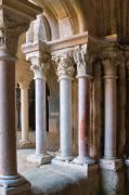 Travel Photography Prints - Ornate Marble Pillars at Fontfroid Cloister Print by Louise Heusinkveld