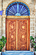 Crete Framed Prints - Ornate Wooden Doors Framed Print by Antony McAulay