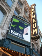 Theater District Prints - Orpheum Sign Print by Carol Groenen