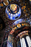 Ceiling Photos - Orthodox church interior by Elena Elisseeva