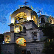 Orthodox Painting Prints - Orthodox church painting Print by Magomed Magomedagaev