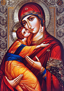 Orthodox Mary And Jesus Print by Munir Alawi