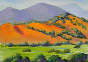 Santa Fe Pastels Originals - Ortiz Mountain View by Mary Olivera