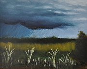 Storm Clouds Paintings - Osage Prairie Storm by John Moody
