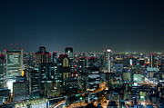 Busy Photo Originals - Osaka Skyline at night by Andreas Altenburger
