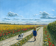 Wild Flowers Paintings - Oscar and Me by Richard Harpum