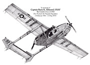Usaf Drawings Posters - Oscar Deuce custom one Poster by Dale Jackson