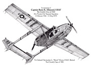 Usaf Drawings Posters - Oscar Deuce custom two Poster by Dale Jackson