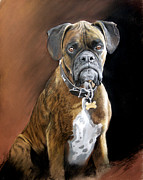 Large Pastels - Oscar by Karen Barton