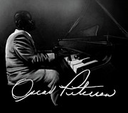 Pianos Paintings - Oscar Peterson by Tylir Wisdom