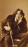 Black And White Photos Prints - Oscar Wilde 1882 Print by Napoleon Sarony
