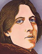 Writer Painting Originals - Oscar Wilde by Martin Keaney