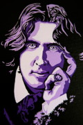 Wilde Framed Prints - Oscar Wilde Framed Print by Rebecca Mott