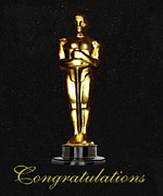 Eric Kempson Photo Prints - Oscars Congratulations Print by Eric Kempson