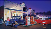Adult Metal Prints - Oscars General Store Metal Print by Bruce Kaiser