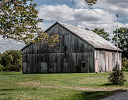 Indiana Autumn Posters - Osgood Indiana Barn Poster by Sharon Meyer