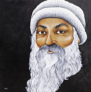 Indian Guru Paintings - Osho by Adam Peot
