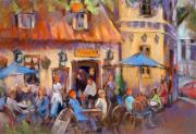 Outdoor Cafe Paintings - Oslo Al Fresco by Joan  Jones