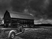 White Truck Framed Prints - Oslo Corners Farm Framed Print by Thomas Young