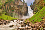 National Park Prints - Osprey Falls with Beams of Light Print by Greg Norrell
