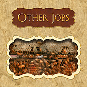 Honey Framed Prints - Other Jobs button Framed Print by Mike Savad
