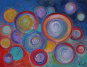 Abstract Expression Pastels - Other Worlds - 48x60 Original Art / Prints by Robert R Abstract Art