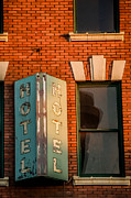 Spokane Prints - Otis Hotel Sign Print by Daniel Baumer