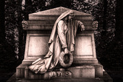 Headstone Framed Prints - Otis Monument Framed Print by Tom Mc Nemar