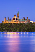 Ottawa Framed Prints - Ottawa Blue Hour Framed Print by Mircea Costina Photography