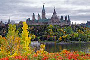 Ottawa Prints - Ottawa Parliament Hill Print by Charline Xia