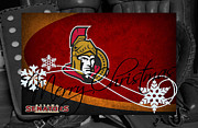 Senators Posters - Ottawa Senators Christmas Poster by Joe Hamilton