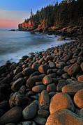 Ethereal Water Prints - Otter Cliffs - Acadia National Park Print by Thomas Schoeller