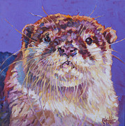 Otter Paintings - Otto by Patricia A Griffin