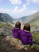 Giuseppe Epifani Framed Prints - Our daughters admiring the View Framed Print by Giuseppe Epifani