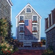 P Town Paintings - Our Flag Was Still There by Candice Ronesi