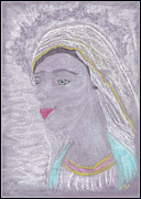 Virgin Mary Pastels - Our Lady Mary by Lyn Blore Dufty