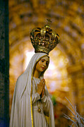 Virgin Mary Acrylic Prints - Our Lady of Fatima Acrylic Print by Gaspar Avila
