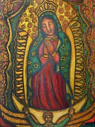 Visionary Art Painting Framed Prints - Our Lady of Glistening Grace Framed Print by Marie Howell Gallery