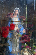 Praying Photo Originals - Our Lady of Grace San Ysidro Cemetery Corrales New Mexico 2010 by John Hanou