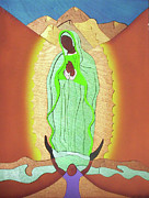 Religious Art Mixed Media Originals - Our Lady Of Guadalupe by Fred Gardner