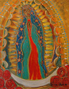 Virgen De  Guadalupe Art Framed Prints - Our Lady of Guadalupe Framed Print by Laura Tompkins