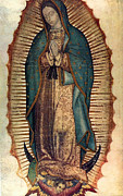 Our Lady Painting Framed Prints - Our Lady Of Guadalupe Framed Print by Pam Neilands