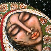 Visionary Art Painting Prints - Our Lady of Peace Print by Maya Telford