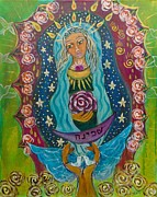 Sacred Feminine Paintings - Our Lady of Rebirth and Renewal by Havi Mandell