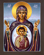Icon Paintings - Our Lady of the New Advent Gate of Heaven by William Hart McNichols