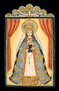 St. Francis Cathedral Posters - Our Lady of the Rosary Poster by Ellen Chavez de Leitner