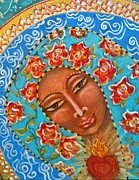 Dragonflies Mixed Media - Our Lady of The Roses by Maya Telford